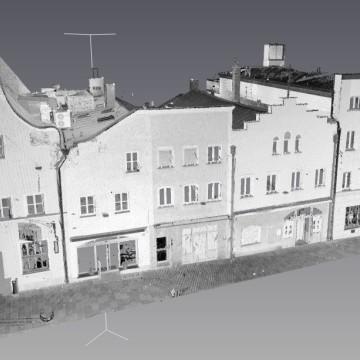 Vermessung: 3D-Laserscan VR-Bank, Vilsbiburg